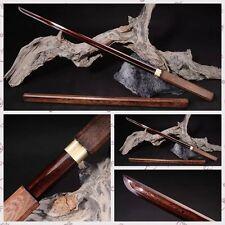 High Quality Japanese Samurai Sword Red Pattern Steel Blade Katana Full Tang#125