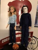 Clearance Michael Myers & Laurie Strode CUSTOM HORROR DOLLS Halloween 1978 OOAK