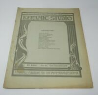 Keramic Studio Magazine 1918 Ceramic Art Nouveau Art Deco Patterns Illustrations