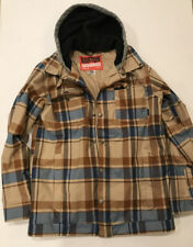Burton Mens Waterproof Plaid Ski Snow Parka Jacket Size M