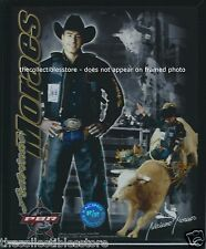 ADRIANO MORAES PBR PROFESSIONAL PRO BULL RIDERS COWBOY RODEO FRAMED 8 X 10 PHOTO