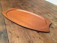 Silva of Sweden Vintage Modern Teak Collection Tray Danish Mid Century retro