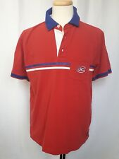 Montreal Canadiens NHL Men's Coral Red Polo Golf Shirt Size Large