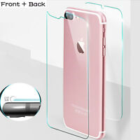 For iPhone 7 6s Front Back Rear Screen Protector Tempered Glass Ultra Thin 9H