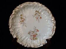 Geschutzt Germany White/Gold Porcelain Plate ~ Raised Relief Orange Wildflower