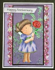 Anniversary - Magnolia Tilda with rose - handmade card by DEE