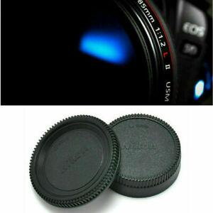 2*/Set Body Lens Cap Front + Rear Cover For Nikon AF AF-S Lens DSLR SLR Camera !
