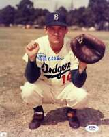 Rube Walker PSA DNA Coa Hand Signed 8x10 Photo Autograph