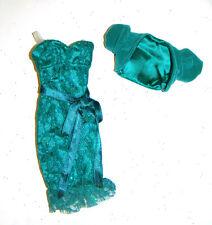 Barbie Fashion Green Lace Dress/Bolero For Model Muse Dolls fn135