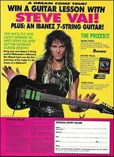 Steve Vai Signature Ibanez Universe UV70P Premium JEM guitar 8 x 11 contest ad