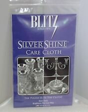 Blitz Silver Care Shine Silver Jewelry Polishing Cloth For 925 Sterling   NEW