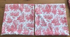 PILLOW COVER TOILE RED N WHITE WITH ZIPPER  16 x 16 NEW