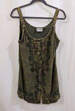 Women's Raaga Acid Yellow Wash Tank Cami Vest Sleeveless Top Adjustable Back