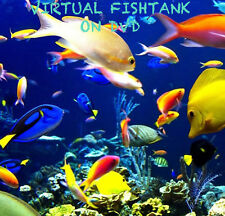 VIRTUAL FISH TANK DVD AQUARIUM MARINE FRESH WATER TROPICAL SOOTHING 144 FREEPOST