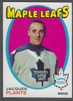 1971-72 O-Pee-Chee Toronto Maple Leafs Hockey Card #195 Jacques Plante
