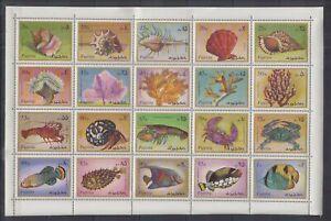 H464. Fujeira - MNH - Marine Life - Various - Full Sheet