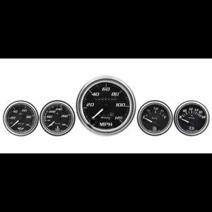 "Equus 7000 series 5 Piece Gauge Kit with 3-3/8"" Speedometer"