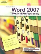 NEW Microsoft Office Word 2007 For Medical Professionals by Jennifer Duffy W/CDR
