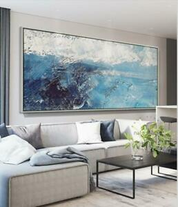 """LL041 Home decor art 48"""" Hand-painted Abstract oil painting on canvas Unframed"""