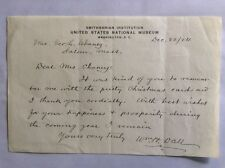 1924 Hand-Signed Letter *WILLIAM H. DALL Alaska Explorer*Smithsonian Institution