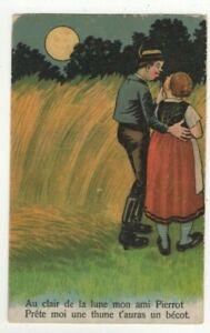 A Clair De Lune Mon Ami Pierrot Vintage French Romantic Greetings Postcard 291c