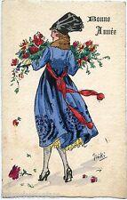 illustrateur MIKI. MODE. FASHION. PRETTY WOMAN. FLEURS. FLOWERS