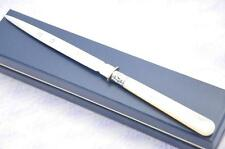 THE BEST MOTHER OF PEARL & SILVER  LETTER OPENER/PAPER KNIFE SHEFFIELD 1998
