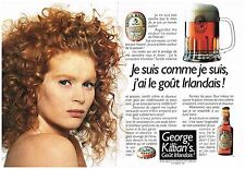 Publicité Advertising 1990 (2 pages) La Bière Rousse George Killian's