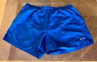 Nike Dri-Fit Gray Lined Athletic Running Shorts Mens Size XL Blue Navy, EUC!