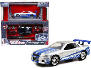 BRIAN'S 2002 NISSAN GT-R R34 BUILD N' COLLECT MODEL KIT 1/55 scale DIECAST CAR