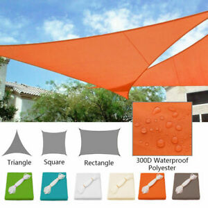 Awning Garden Sun Sun Protection Wind Protection 98% UV Protection Triangle Rectangle