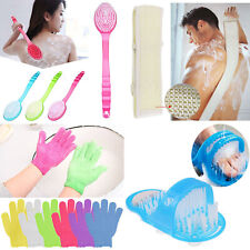 Body Shower Foot Scrubber Back Massager Cleaner Spa Exfoliating Gloves Washer