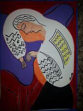 dessin au feutre et peinture d'une femme endormie d'après matisse