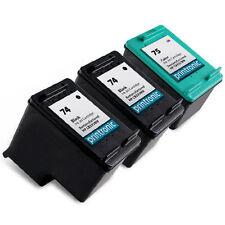3 pk HP 74 75 Ink Cartridges HP74 HP75 CB335WN CB337WN