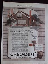 1925 Creo-Dipt Stained Shingles Beautiful and Enduring Advertisement