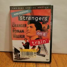 Strangers on a Train Alfred Hitchcock Farley Granger Robert Walker New Dvd 2 dis
