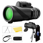 40X60 Telescope Tripod Zoom Optical HD Lens Monocular With Phone Clip For iPhone