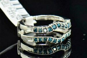 3.20Ct Round Cut London Blue Topaz Women's Engagement Ring 14K White Gold Finish