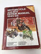 Chilton Vintage Motorcycle & Atv Repair Manual 1945-1985 Harley Honda Triumph