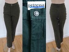 Petressa Sportive Tracht Hose Jeans Damen hoher Bund Stretch Moosgrün 36 S Neu