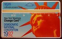 TK 273b Telefonkarte Issue 1992 Democratic Convention & Statue of Liberty Head