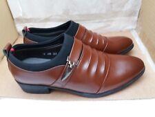 IMBETTUY Men's Fashion Faux/PU Leather Pointed Toe Shoes - Size UK 8.5-9