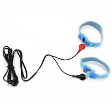 ELECTRO TENS EMS E-STIM 2 CONDUCTIVE ADJUSTABLE RINGS AND 2.5MM LEAD.UK SELLER !