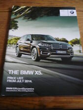 BMW X5 JULY 2014 PRICE LIST BROCHURE