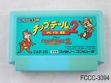 Chip to Dale 2 Rescue Rangers Famicom NES Japanese Import Daisakusen & FC C