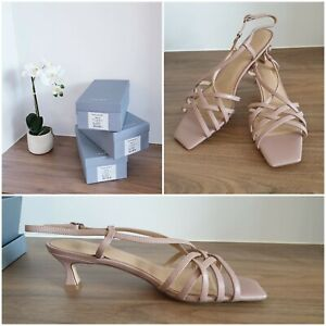 NEW Trenery Strappy Heels [38 39 40 EU] Strappy Shell Pink Sandal, COUNTRY ROAD