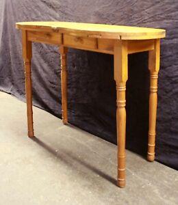 Vintage Antique Knotty Pine Wood Wooden Lady Secretary Kidney Desk Writing Table