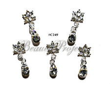 5pc Nail Art Charms 3D Nail Rhinestones Decoration Jewelry DIY Bling - C249