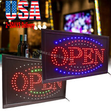 Pro 3 Color Led Light Flash Motion Business Open Sign Chain Switch 25*48