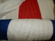 Pottery Barn Kids Nautical Flag Full Queen Quilt + 1 std sham